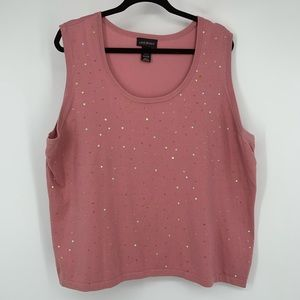 Dusty rose  sweater tank by Lane Bryant in size 22
